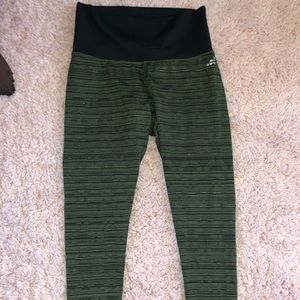 high waisted army green leggings